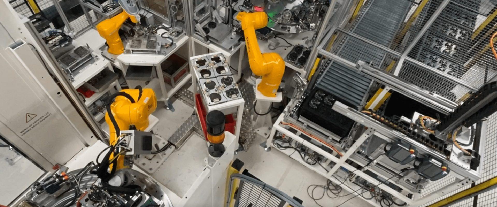 Vue cellule robot Staubli